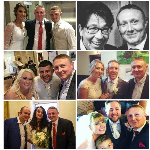 Wedding Magician Darren with Bride & Grooms