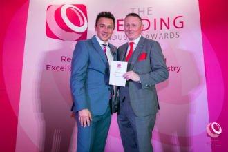 Darren Receiving The Wedding Industry Award